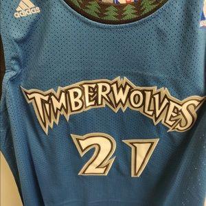 368f32ed8 adidas Shirts - Kevin Garnett Timberwolves Throwback Jersey S